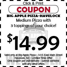 Big apple pizza coupons